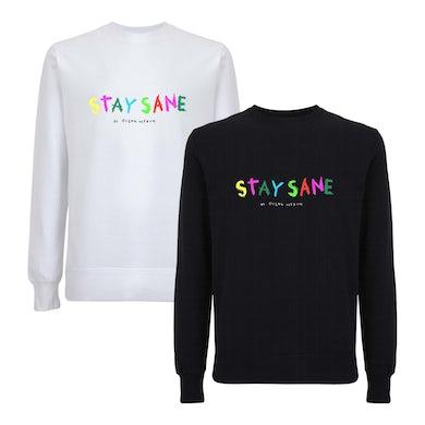 Stay Sane Embroidered Sweatshirt