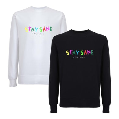 Ocean Wisdom Stay Sane Embroidered Sweatshirt