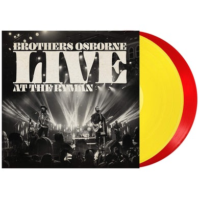 Brothers Osborne Live At The Ryman Yellow/Red Double LP (Vinyl)