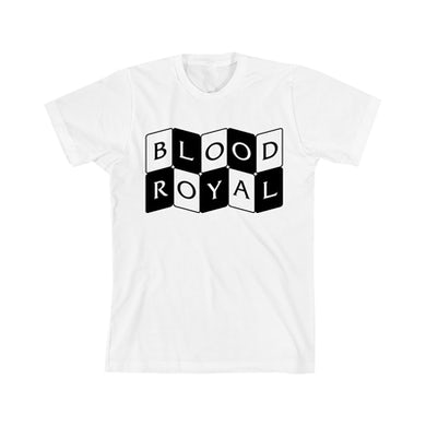 Royal Blood Curved Cards Blood Royal White T-Shirt