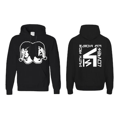 Death From Above DFA Logo Black Hoodie