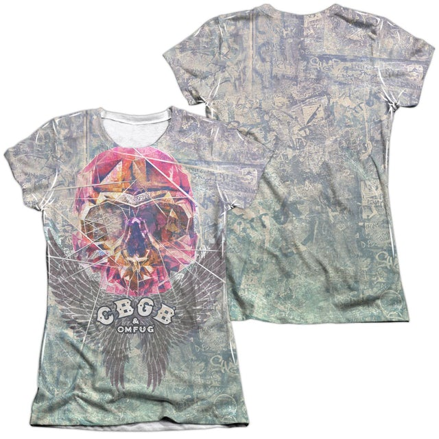 CBGB Junior's Shirt | GRAFFITI SKULL (FRONT/BACK PRINT) Junior's Tee