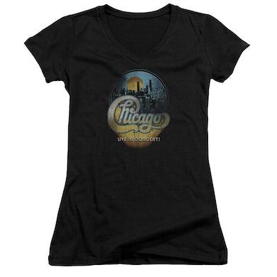 Chicago Junior's V-Neck Shirt | LIVE Junior's Tee