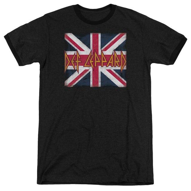Def Leppard Shirt   UNION JACK Premium Ringer Tee