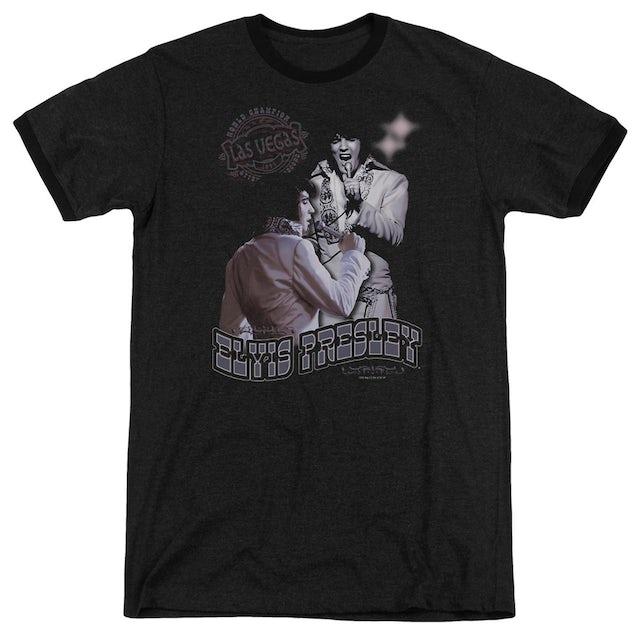 Elvis Presley Shirt | VIOLET VEGAS Premium Ringer Tee