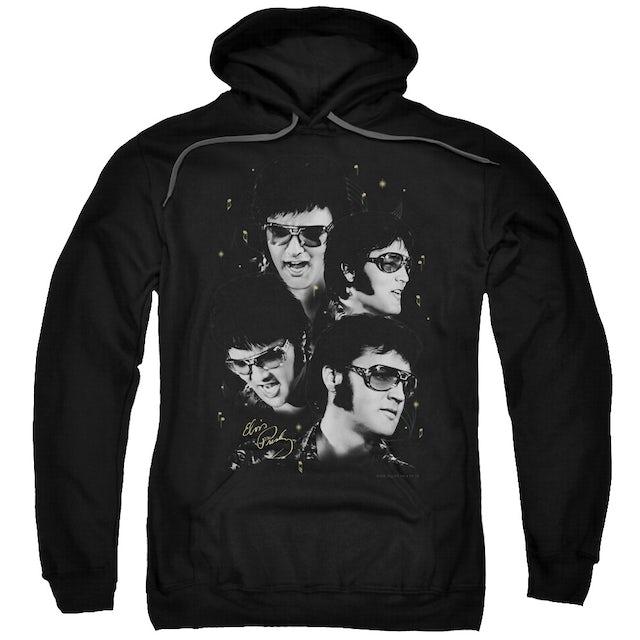Elvis Presley Hoodie   FACES Pull-Over Sweatshirt