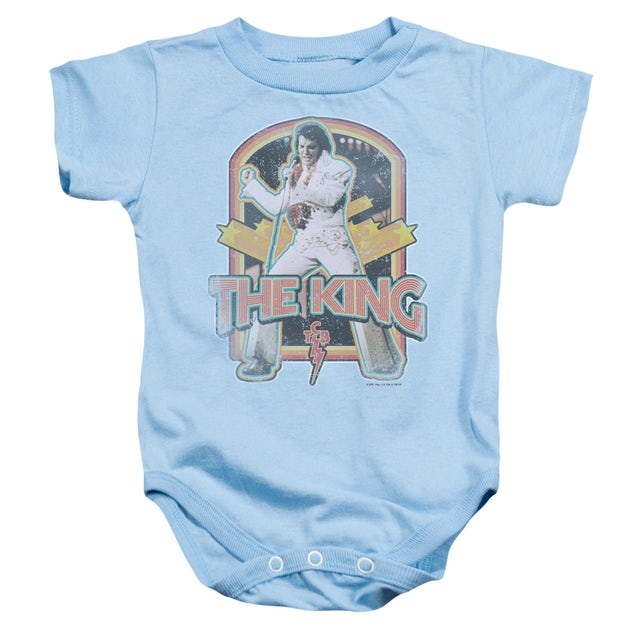 Elvis Presley Baby Onesie | DISTRESSED KING Infant Snapsuit