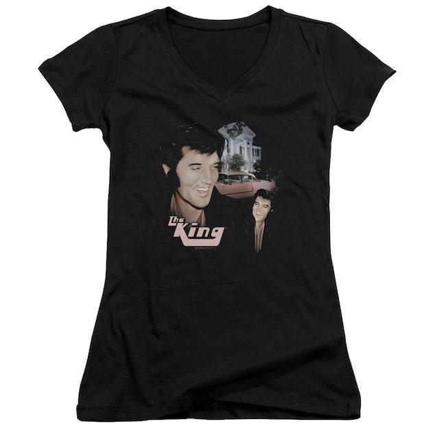 Elvis Presley Junior's V-Neck Shirt | HOME SWEET HOME Junior's Tee