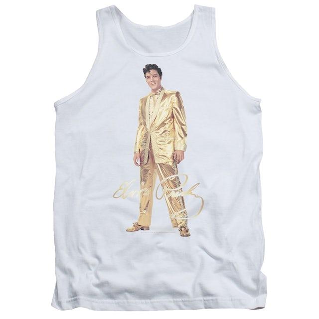 Elvis Presley Tank Top   GOLD LAME SUIT Sleeveless Shirt
