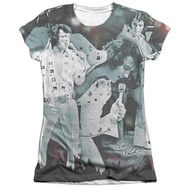Elvis Presley Junior's Shirt   NOW PLAYING (FRONT/BACK PRINT) Junior's Tee