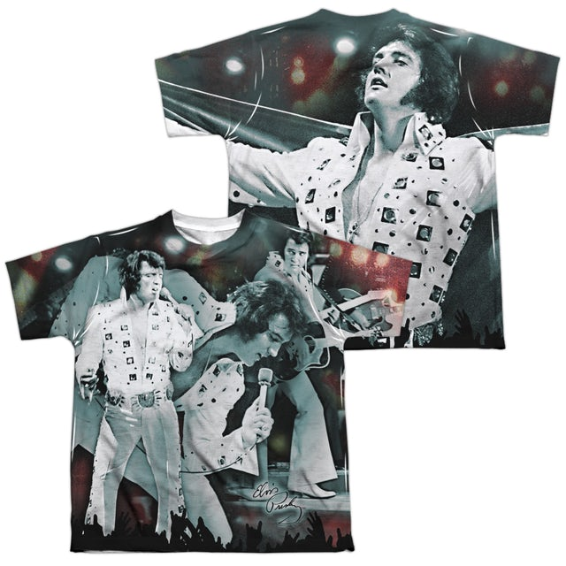 Elvis Presley Youth Shirt   NOW PLAYING (FRONT/BACK PRINT) Sublimated Tee