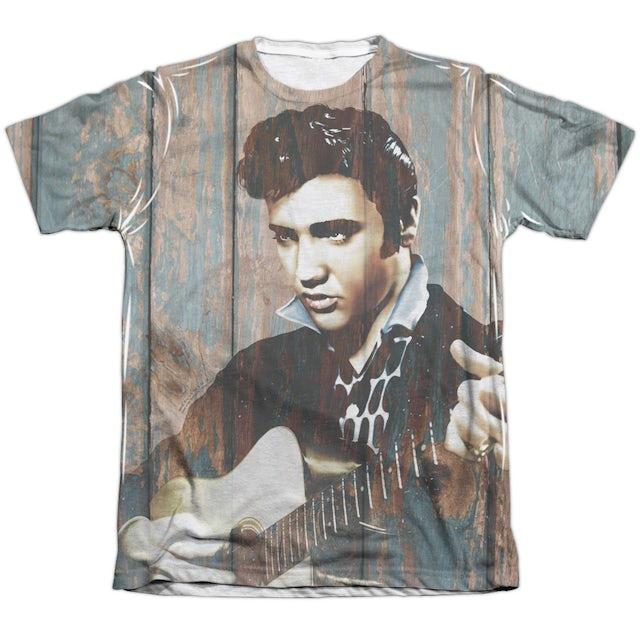 Elvis Presley Shirt | WOODGRAIN (FRONT/BACK PRINT) Tee
