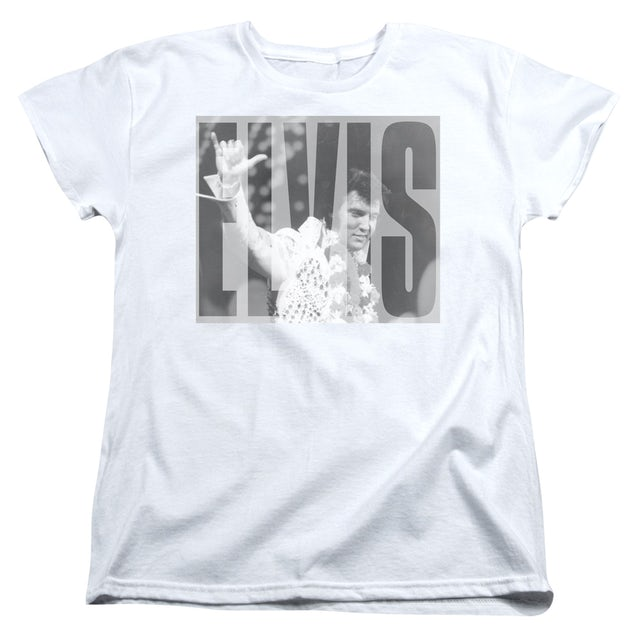 Elvis Presley Women's Shirt | ALOHA GRAY Ladies Tee