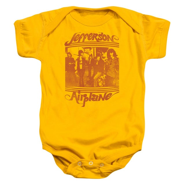 Jefferson Airplane Baby Onesie   GROUP PHOTO Infant Snapsuit