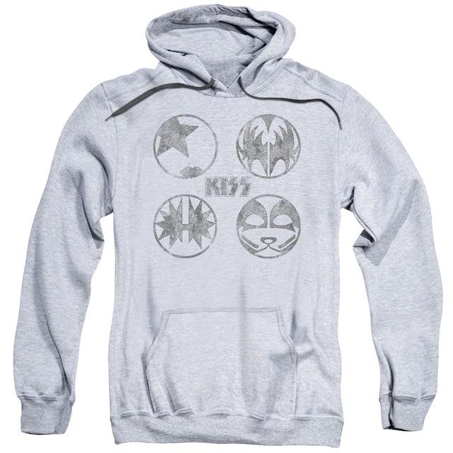 Kiss Hoodie | PAINT CIRCLES Pull-Over Sweatshirt