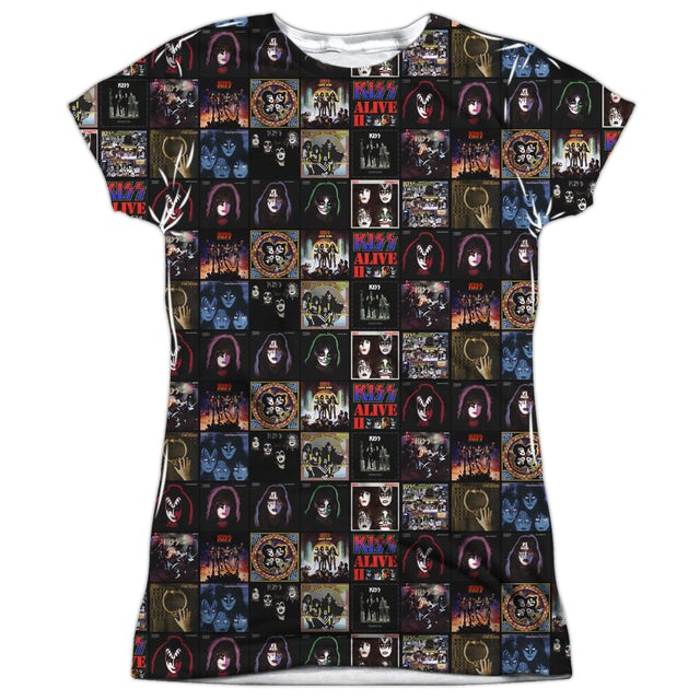 Kiss Junior's T Shirt   ALBUM COVERS Sublimated Tee