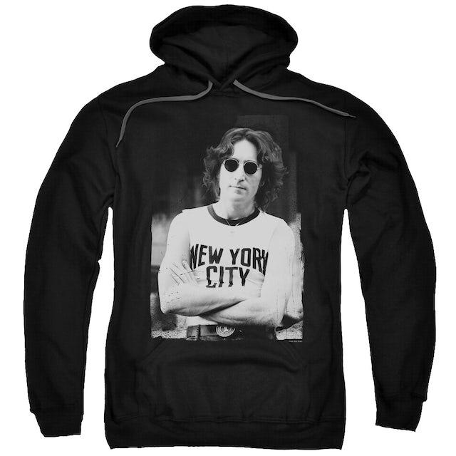 John Lennon Hoodie | NEW YORK Pull-Over Sweatshirt