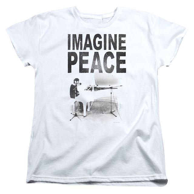 John Lennon Women's Shirt | IMAGINE Ladies Tee
