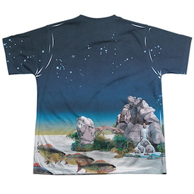 Yes Youth Shirt | TOPOGRAPHIC OCEANS (FRONT/BACK PRINT) Sublimated Tee