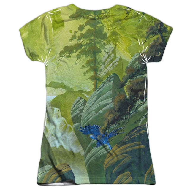 Yes Junior's T Shirt | FLY FROM HERE (FRONT/BACK PRINT) Sublimated Tee