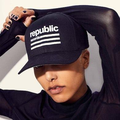 Republic Records Republic white logo, black hat