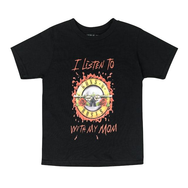 Guns N' Roses I Listen to GnR with My Mom Bullet Logo T-Shirt