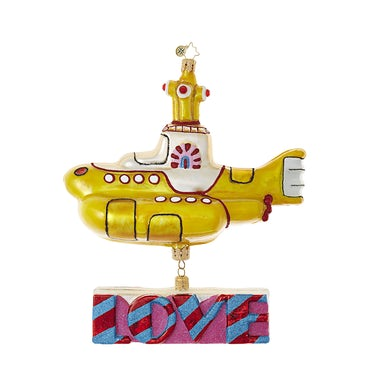 The Beatles Yellow Submarine with Love Ornament