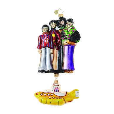 Yellow Submarine with The Beatles Ornament