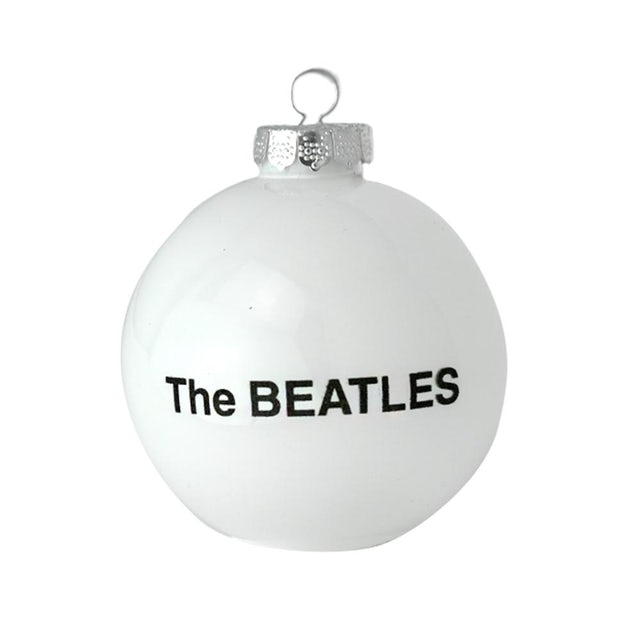 The Beatles White Round Ornament
