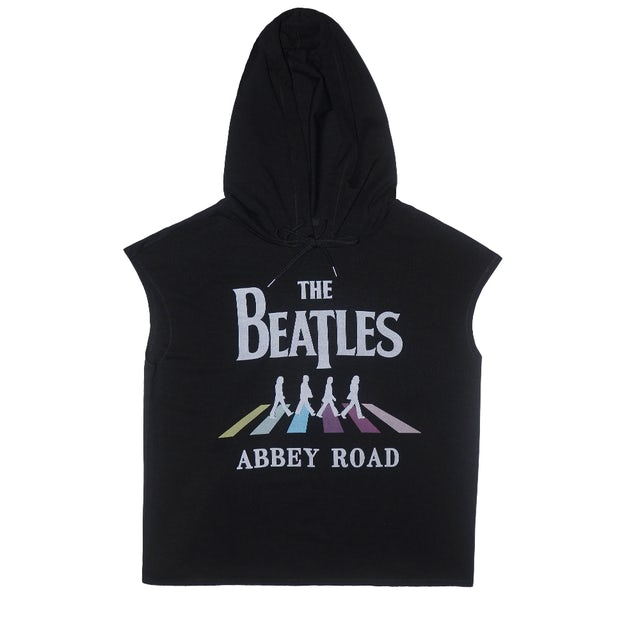 The Beatles Abbey Road Black Sleeveless Hoodie