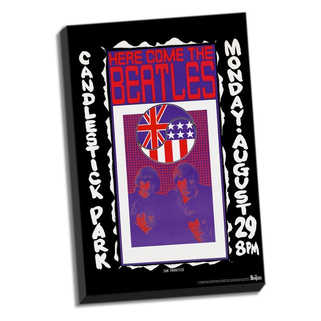 The Beatles Candlestick Park Final Concert Stretched Canvas