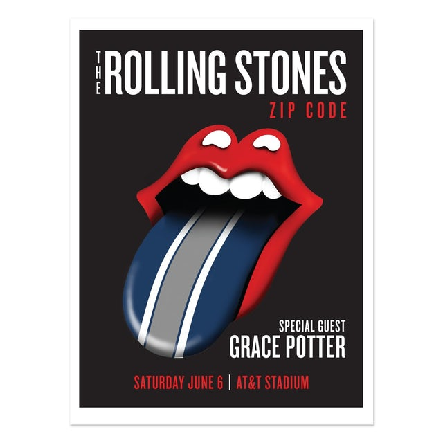The Rolling Stones and Grace Potter Dallas Event Poster