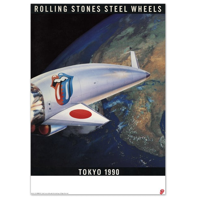 The Rolling Stones Steel Wheels Poster