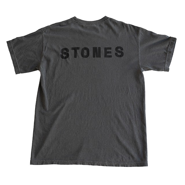 The Rolling Stones Black on Black Charcoal No Filter Licks T-Shirt