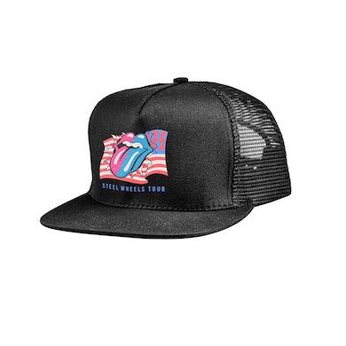 The Rolling Stones Steel Wheels Trucker Hat