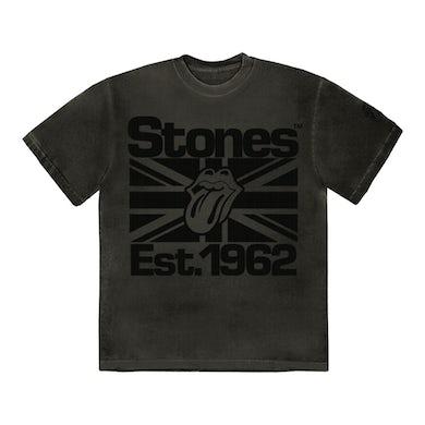 The Rolling Stones Black on Black Union Jack Lick T-Shirt