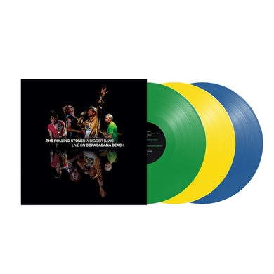 The Rolling Stones A Bigger Bang Live On Copacabana Beach 3LP Limited Edition (Vinyl)
