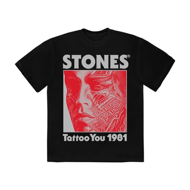 The Rolling Stones Tattoo You 40th Anniversary Black T-Shirt