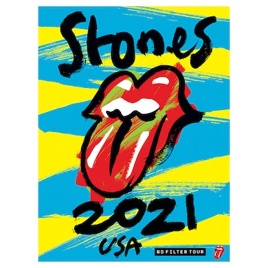 The Rolling Stones No Filter 2021 Admat Lithograph