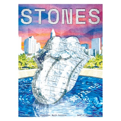 The Rolling Stones Charlotte No Filter 2021 Tour Lithograph