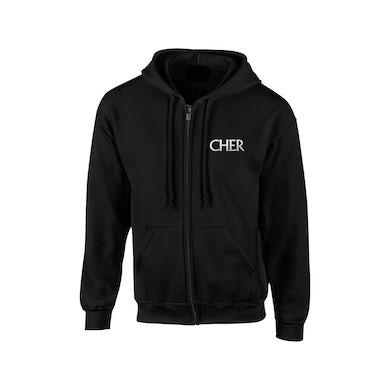 Classic Cher Glitter Zip Hoodie