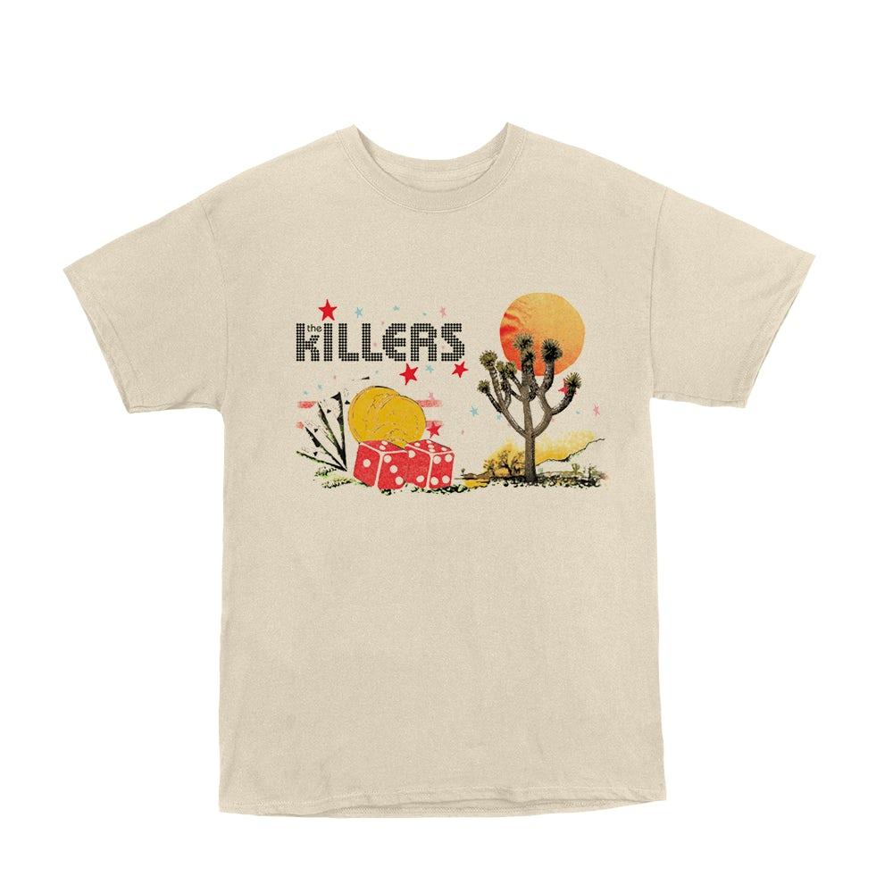 Killers Wonderful Wonderful Shell Black T Shirt New Official Band Album Art