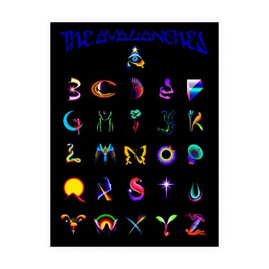The Avalanches COSMOLOGICAL ALPHABET POSTER