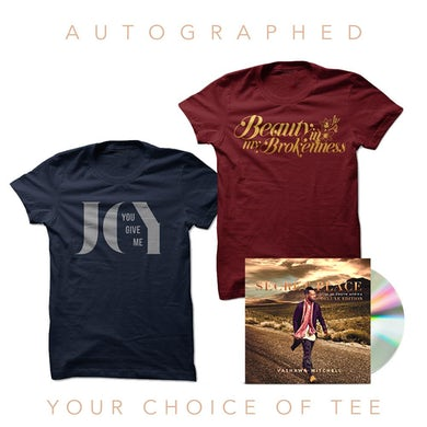 Vashawn Mitchell Autographed Deluxe CD + Your Choice Of Tee