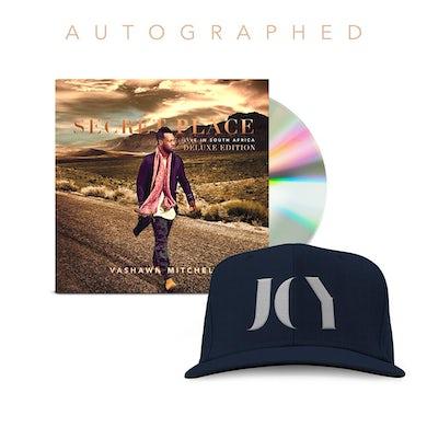 Vashawn Mitchell Autographed Deluxe CD + Joy Snapback