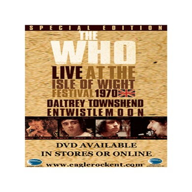 The Who Live at the Isle of Wight 1970 DVD