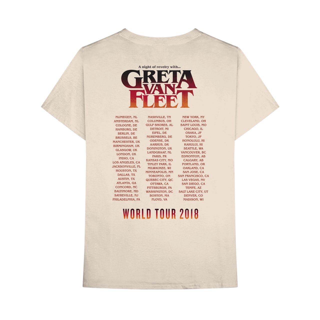 Greta Van Fleet A NIGHT OF REVELRY TOUR TEE