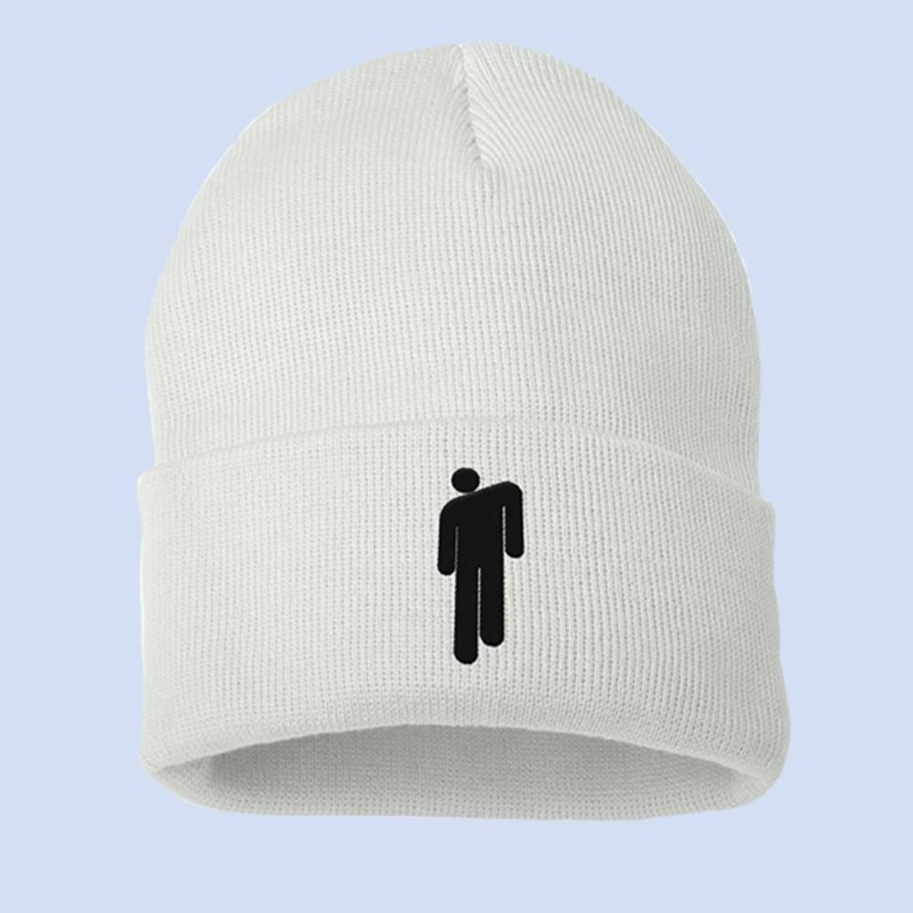 4c50ae4125514 Billie Eilish. BLOHSH WHITE BEANIE + Digital Album
