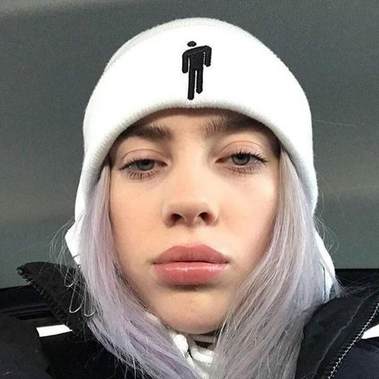 9e9957237c53c Billie Eilish BLOHSH WHITE BEANIE + Digital Album. Touch to zoom