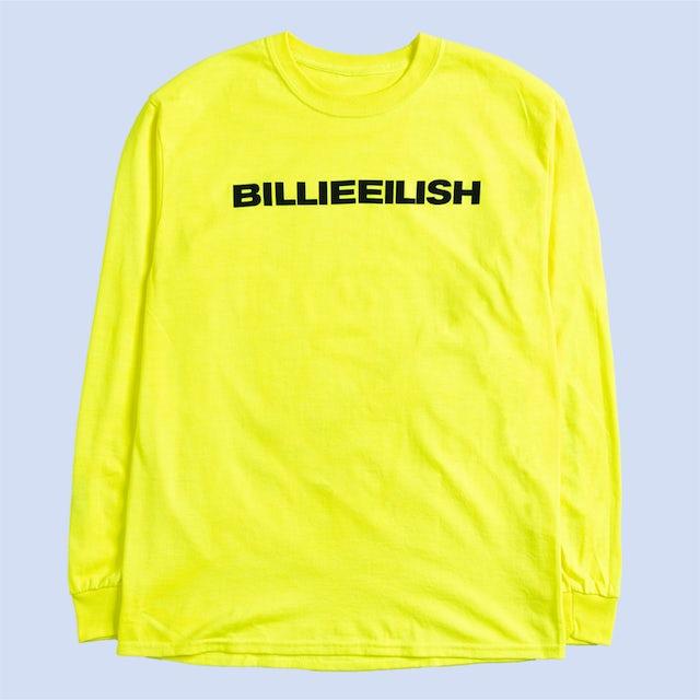 "Billie Eilish ""dont smile at me"" YELLOW LONG SLEEVE + DIGITAL ALBUM"